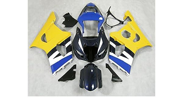 Moto OnFire Aftermarket ABS Inyección moho - amarillo azul negro plástico carrocería embellecedores para Suzuki GSXR1000 K3 2003 2004 GSXR 1000 GSX R1000 K3 ...