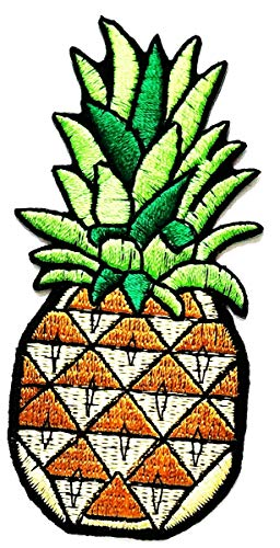 Nipitshop Patches Pineapple Summer Fruit Cartoon Game Logo Girl Kid Baby Jacket T Shirt Patch Sew Iron on Embroidered Symbol Badge Cloth Sign Costume