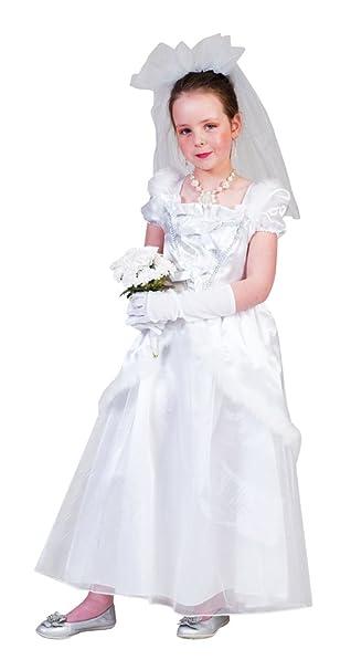 Braut Ruby Kostüm Mädchen Gr. 104 - Tolles Brautkleid mit Schleier ...