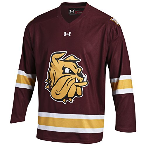 Sublimated Hockey Jersey - Under Armour Minnesota Hockey Men's Replica jersey, Large, Maroon