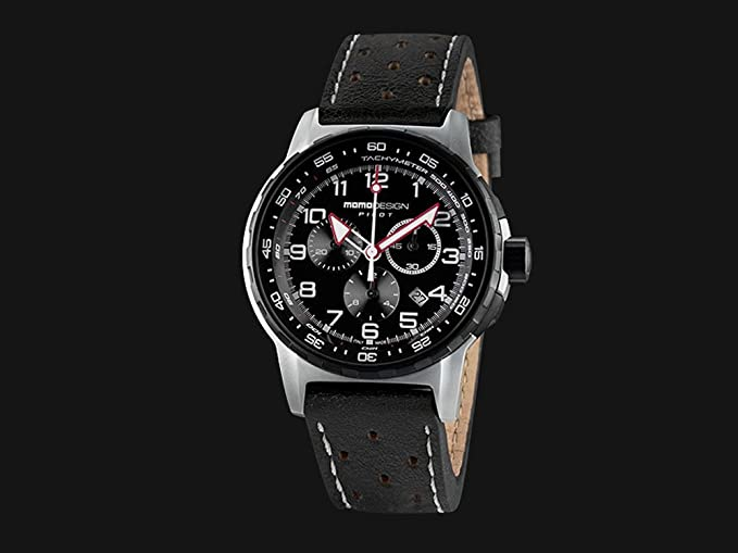 Reloj Momo Design Pilot Pro Crono Quarzo, Acero Inoxidable 316L, 46mm. 5 atm: Amazon.es: Relojes