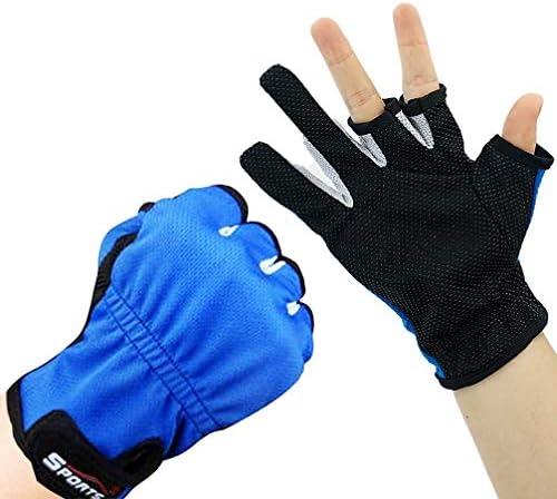 Luwintアウトドア軽量スポーツ釣り手袋–速乾性通気性指なし、1ペア、ミディアム