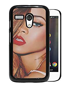 Rihanna Black Motorola Moto G Screen Phone Case Attractive and Fashion Design