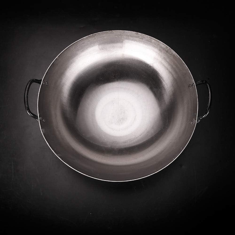 Craft Wok Tradizionale In Acciaio Al Carbonio Martellato A Mano Con Manico In Acciaio,36cm