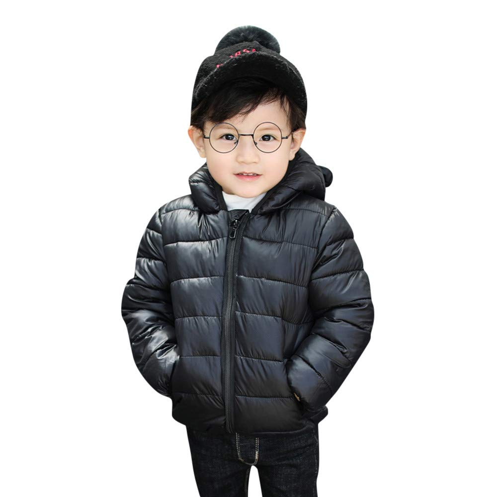 OVERMAL/_Baby Coats Winter 2019 New Children Kids Boys Girls Long Sleeved Hooded Keep Warm Wadded Jacket Clothes