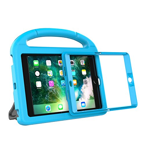 LEDNICEKER Kids Case for iPad Mini 1 2 3 - Built-in Screen Protector Light Weight Shock Proof Handle Friendly Convertible Stand Kids Case for iPad Mini, iPad Mini 3, iPad Mini 2 - Blue by LEDNICEKER (Image #2)