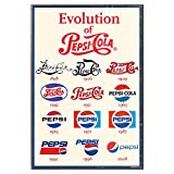 Silver Buffalo PC0136 Pepsi Cola The Evolution of Pepsi Wood Wall Art Plaque, 13 x19 inches