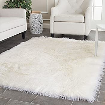 gray with light ideas faux fur fake grey rug dark white rugs home