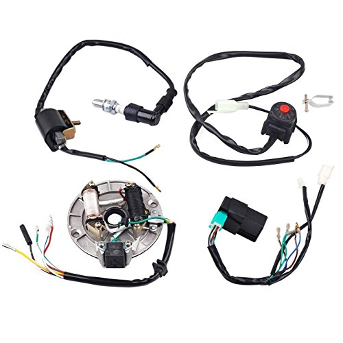 110 Cc Mini Pocket Bikes - ZXTDR Wire Harness Wiring Loom CDI Coil Magneto Ignition Rebuild Kit for Kick Start Dirt Pit Bike 50-125cc