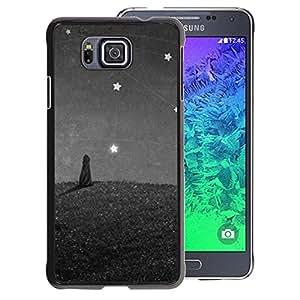 Planetar® ( Cat Painting Stars Wonder Grey Gray ) Samsung ALPHA G850 Fundas Cover Cubre Hard Case Cover