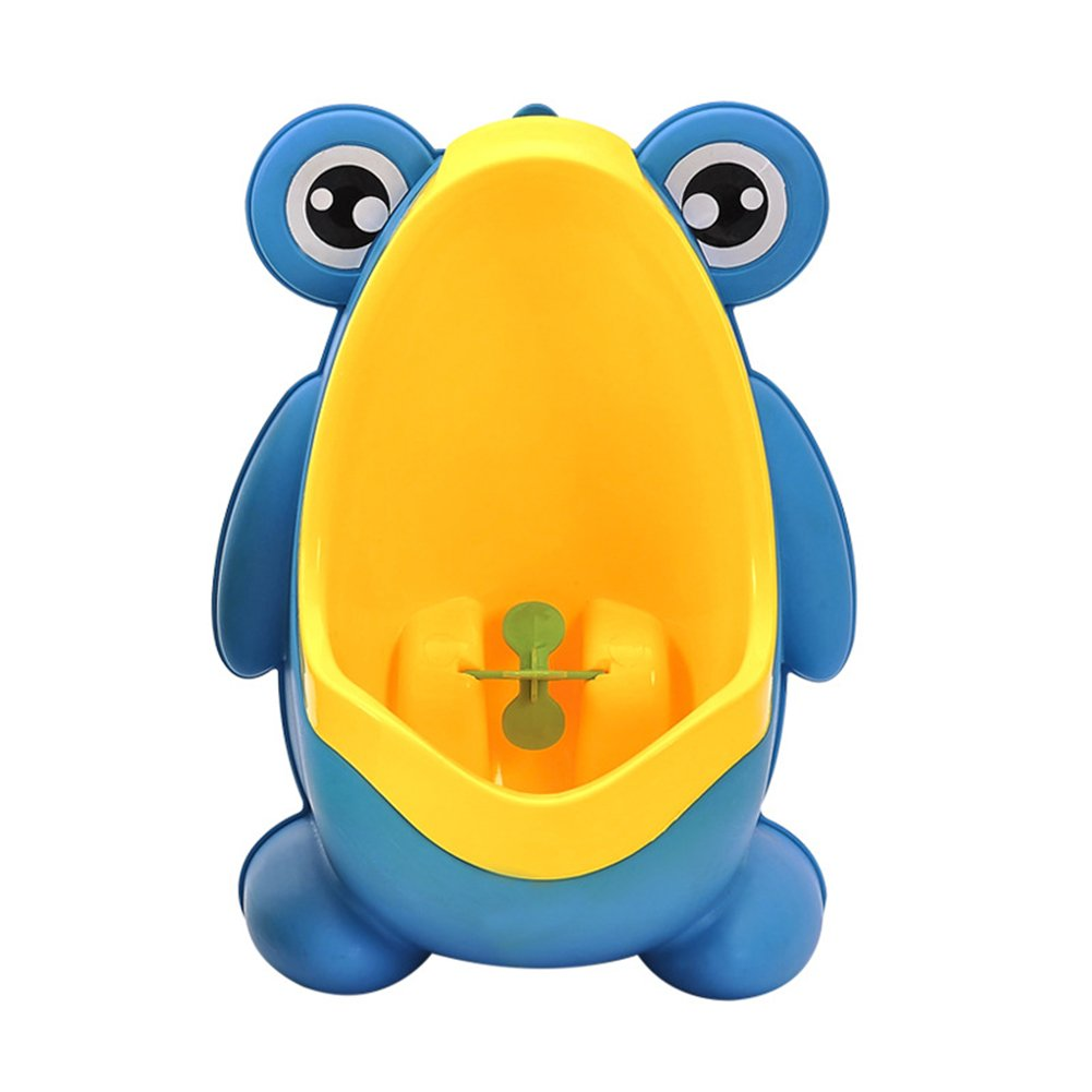 AKDSteel Cute Frog Potty Training Urinal for Boys with Interesting Whirling Target Kids Removable Toilet Dark Blue Gifts by AKDSteel