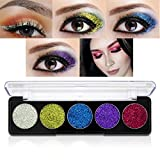 Image of Glitter Powder Makeup Palette,Vodisa Pressed Glitter Eyeshadow Palette Long-Lasting Metallic Shimmer Eye shadow Pallet Eyes Makeup Glitter Highly Pigmented Mineral Pressed Glitter Cosmetic Makeup (3)