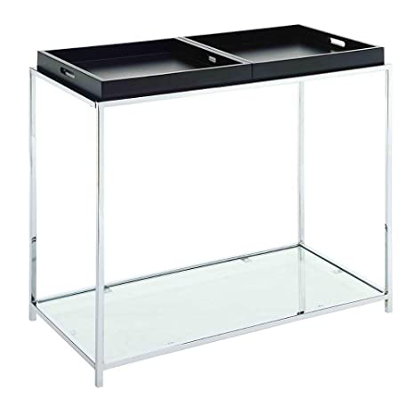Prime Amazon Com Hall Console Table Metal And Tempered Glass Frankydiablos Diy Chair Ideas Frankydiabloscom