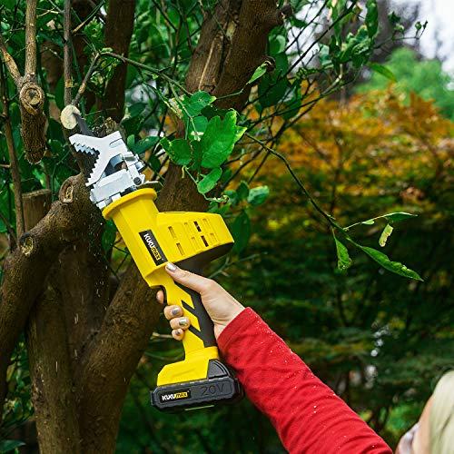 KUKUMAX 20V Lithium cordless One-handed Reciprocating Saw Garden Saw (2000mAh Li Battery,Changer,2 PCS blades) by KUKUMAX (Image #5)
