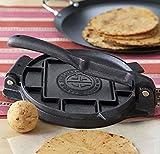 7 inch dough press - 7-Inch Tortilla Press Heavy Cast Iron Tortilla Maker Authentic Tortillas