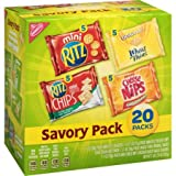 100 calorie cheese nips - Nabisco Savory Cracker Variety Pack , 20 Count, 4 Pack