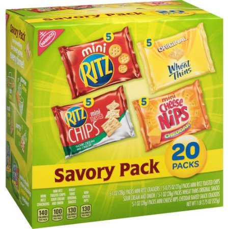 Nabisco Savory Cracker Variety Pack , 20 Count, 4 Pack by Nabisco