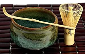 Japanese Matcha Tea Ceremony Set Bowl Whisk Green Yh67/Hs S-3353