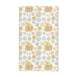 Luxurious Microfiber Hand Towel Multi-purpose Highly Absorbent Extra Soft Wash Cloth with Personalized Cuckoo Clock by Julia Vyazovskaya Custom Printed Hand Towels, 15.5 x 24.5