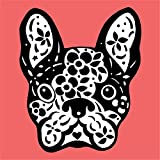 French Bulldog Sugar Skull Home Decal Vinyl Sticker 12'' X 12''