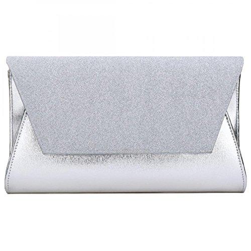 Female PU Handbag Bag Party Silver Gold Leather Lady's Evening Bag Crossbody Women Clutch Bags Bag BCqXwapw