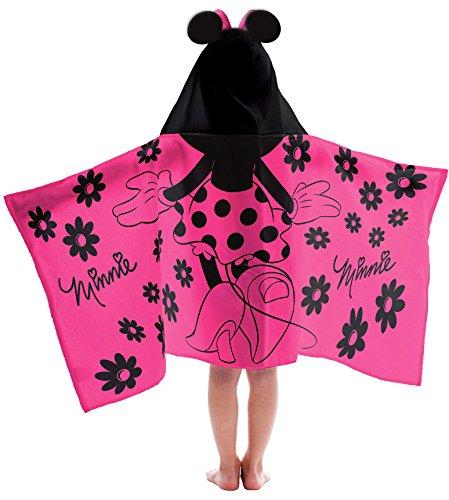 Jay Franco Disney Minnie Mouse Cotton Hooded Bath/Pool/Beach Towel