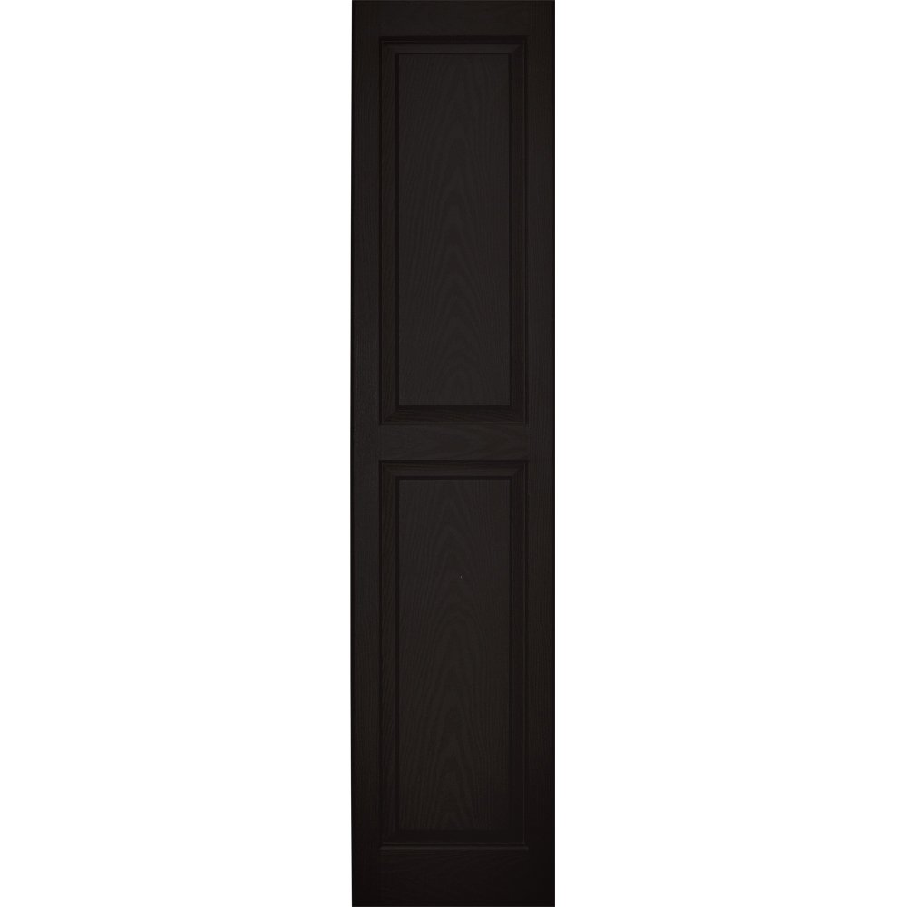 Vantage 3114063002 14X63 Raised Panel Shutter/Pair 002, Black