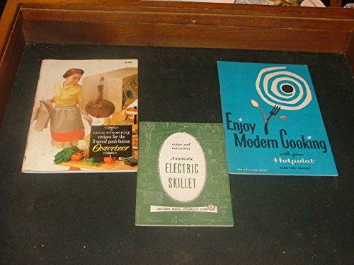 3 Vintage Owners Manuals Hotpoint, Blender Skillet ()