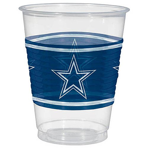 Amscan Dallas Cowboys Plastic Cup, 16 oz. - Nfl Football Plastic Cup