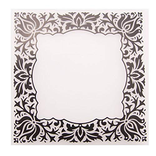 Welcome to Joyful Home 1PC Square Frame Background Embossing Folder for Card Making Floral DIY Plastic Scrapbooking Photo Album Card Paper DIY Craft Decoration Template Mold