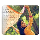 Personalised Wooden Photo Jigsaw Puzzle Photo Frame - 8' x 10' - (A4 Size) - 63 Pieces - With Wooden Frame - Customize with Your Photos & Messages