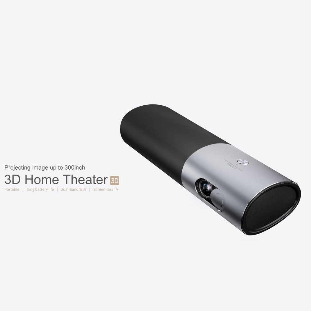 Mini Portable Projector Home Theatre 3d Full Baby Boomer 600w Dual 8quot Subwoofer Electronicswoot Hd Moviewifibluetooth Dlp Video Support 1080p Built In Battery 15600mah Android System Electronics
