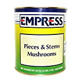 Lot of 4, Canned Pieces & Stems Mushrooms, Net Drained wt. 68 oz. (4 lbs. 4 oz.) 1928 Grams