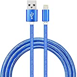 YF (Apple MFI Certified)10ft MFI Cable [Double Braided Nylon]For iPhone 100% Original Lignting Cable For iPhone 6 6s 7 7s 7s Plus(5 color) (Blue)