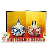 Japanese drawn Ceramic Porcelain kutani ware. Hina ningyo doll displayed during the Girls' Festival '' Japanese ceramic Hagiyakiya 1442