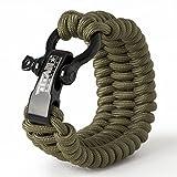 550 cord bracelet fire starter - TITAN SurvivorCord Bracelet   OLIVE-DRAB   MEDIUM (Fits 7