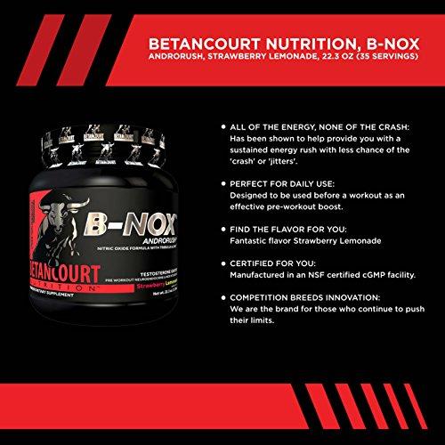 Betancourt Nutrition B-Nox Andorush Pre-Workout, Strawberry Lemonade, 22.3 Ounce by Betancourt Nutrition (Image #2)