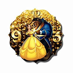 Original Handmade Wall Clock Beauty and the Beast 11.8 Get unique décor for home or office - Best gift ideas for kids, friends, parents and your soul mates