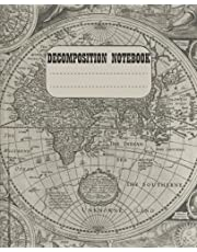 """Decomposition Notebook: History Geography Civics And Economy Notebook For School College Wide Ruled   100 Pages   7.5 x 9.25"""""""