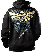 Official Legends of Zelda Black and Gold Hyrule Emblem Hoodie