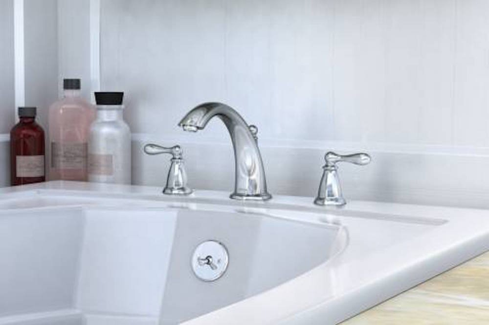 Moen 86440 Deck Mounted Roman Tub Faucet Trim from the Caldwell ...