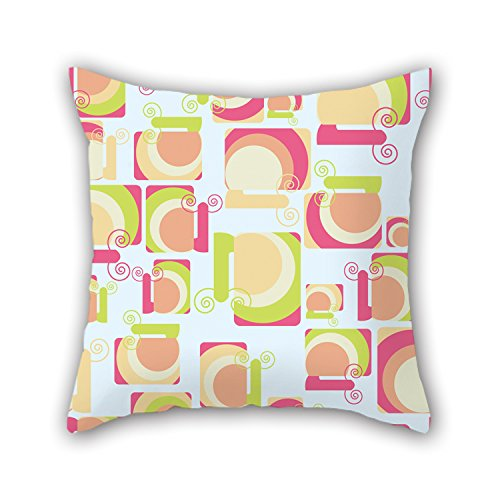 PILLO Colorful Geometry Pillow Covers ,best For Study Room,bench,couch,car,birthday,kids Boys 18 X 18 Inches / 45 By 45 Cm(twice Sides)