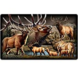 Wildlife Collage Tempered Glass Cutting Board (American Elk)