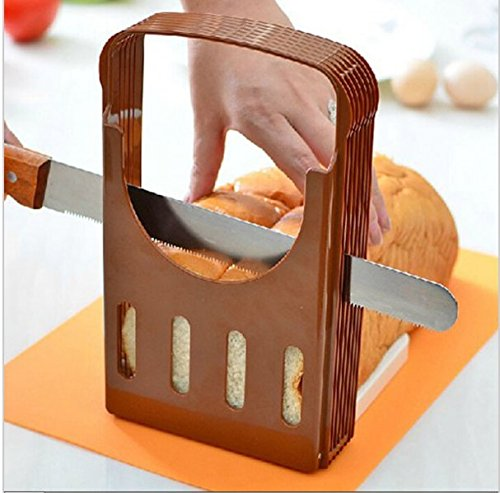 Foldable and Adjustable Bread Toast Slicer Bagel Slicer Loaf Sandwich Bread Slicer (Bagels Led Sign)