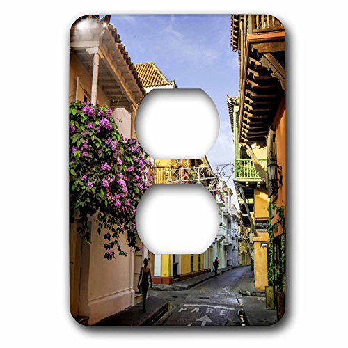 Danita Delimont - Colombia - Street and Spanish colonial architecture, Cuidad Vieja, Colombia. - Light Switch Covers - 2 plug outlet cover - Las Outlets Viejas