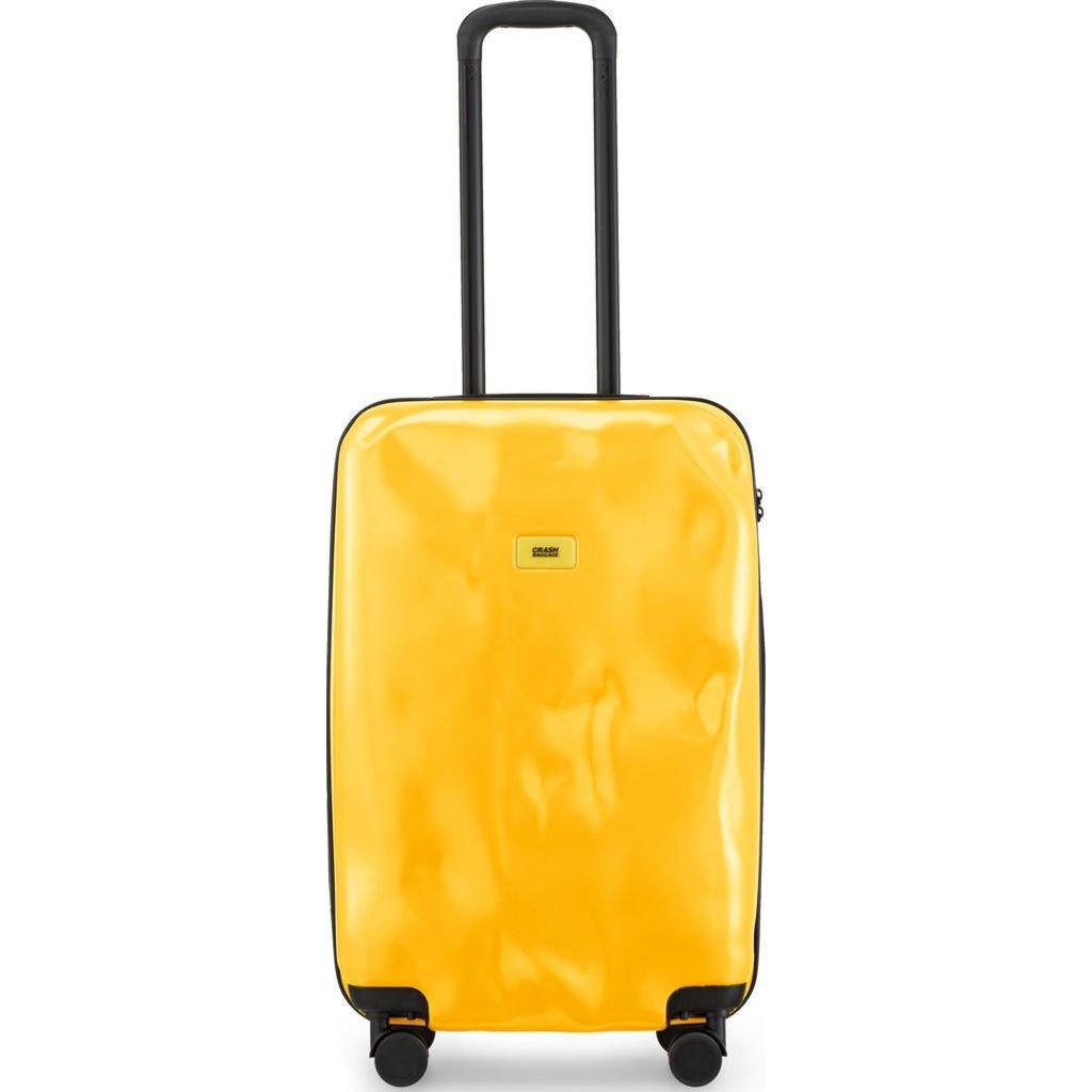 Crash Baggage Pioneer Medium Trolley Suitcase | Mustard Yellow