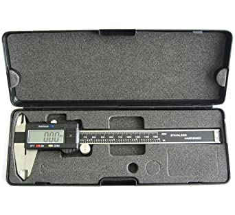 "Digital Calipers, Battery Powered, Inch/Metric, Stainless Steel, 6""/150mm Range, +/-0.001""/0.01mm Accuracy, 0.0005""/0.01mm Resolution"