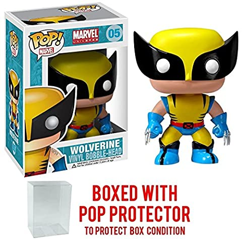 Funko Pop! Marvel: X-Men - Wolverine Vinyl Figure (Bundled with Pop BOX PROTECTOR CASE) (Wolverine X Men Claw Silver)