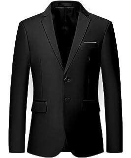 5fc9a362ea7 MOGU Mens Slim Fit One Button Casual Blazer Jacket at Amazon Men s ...