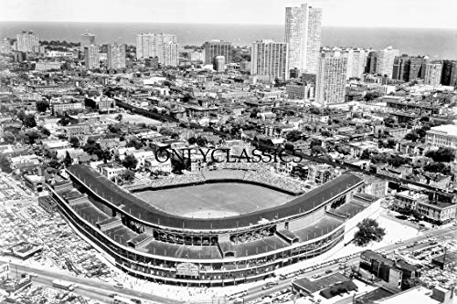 (OnlyClassics 1978 Wrigley Field Chicago Cubs MLB Baseball Game Day Aerial 8X12 Photo Illinois)